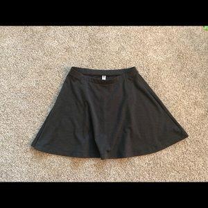 Old Navy a-line knee length skirt (dark grey)